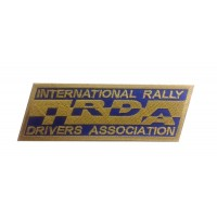 1142 Patch emblema bordado 13x4 IRDA INTERNATIONAL RALLY DRIVERS ASSOCIATION