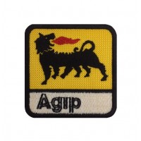 0995 Embroidered patch 7x7  AGIP