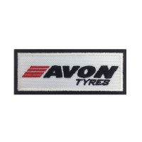 0880 Embroidered patch 10x4 AVON TYRES