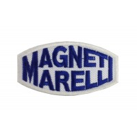 0644 Patch emblema bordado 8x4 MAGNETI MARELLI branco