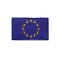 0136 Embroidered patch 6X3,7 flag CEE EU