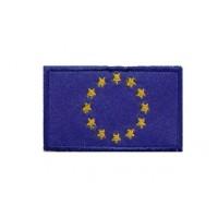 Patch emblema bordado 6X3,7 bandeira CEE UE