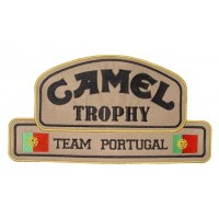 Patch emblema bordado 26x14 Camel Trophy Team Portugal