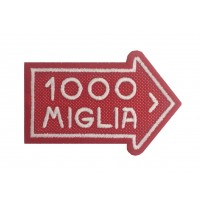 1207 Patch emblema bordado 8x6 1000 MIGLIA
