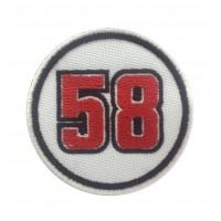0690 Patch emblema bordado 7x7 MARCO SIMONCELLI 58 SUPERSIC