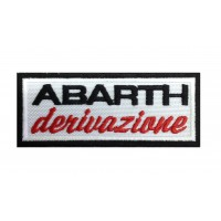 0833 Patch emblema bordado 10x4 DERIVAZIONE ABARTH