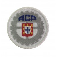 1208 Patch emblema bordado 7x7 ACP Automovel Clube de Portugal