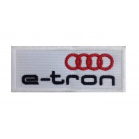 1209 Embroidered patch 10x4 AUDI E-TRON