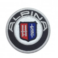 1211 Embroidered patch 7x7 BMW ALPINA