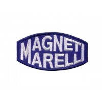 0166 Embroidered patch 8x4 MAGNETI MARELLI blue