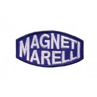 0166 Patch emblema bordado 8x4 MAGNETI MARELLI azul