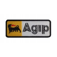 1218 Embroidered patch 10x4 AGIP