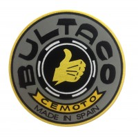 1224 Patch emblema bordado 22x22 BULTACO CEMOTO MADE IN SPAIN