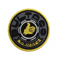 1225 Patch emblema bordado 7x7 BULTACO CEMOTO MADE IN SPAIN cinza