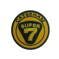0776 Patch écusson brodé  7x7 CATERHAM SUPER SEVEN 7