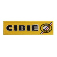 0929 Patch emblema bordado 15X4 CIBIE RACING TEAM FRANCE