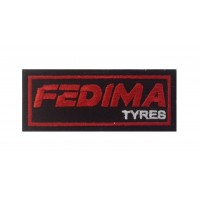 0486 Embroidered patch 10x4 FEDIMA TYRES
