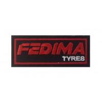 0486 Patch emblema bordado 10x4 FEDIMA TYRES