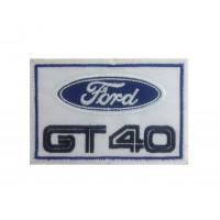 1232  Patch emblema bordado 10x6 FORD GT40