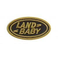 1236 Patch écusson brodé 6X3 LAND ROVER BABY