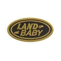 1236 Patch emblema bordado 6X3 LAND ROVER BABY