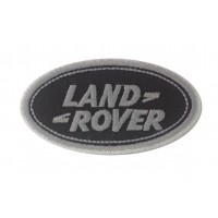 0525 Embroidered patch 9x5 LAND ROVER grey wht