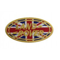 1237 Patch emblema bordado 9x5 LAND ROVER UNION JACK