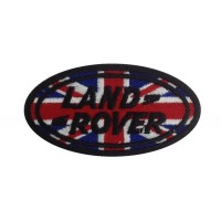 1238 Patch emblema bordado 9x5 LAND ROVER UNION JACK