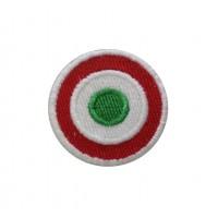 1239 Patch écusson brodé 4x4 drapeau cocarde Italie Vespa