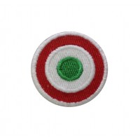 1239 Embroidered patch 4x4 Italy flag Vespa