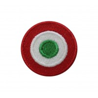 0179 Embroidered patch 4x4 Italy flag Vespa