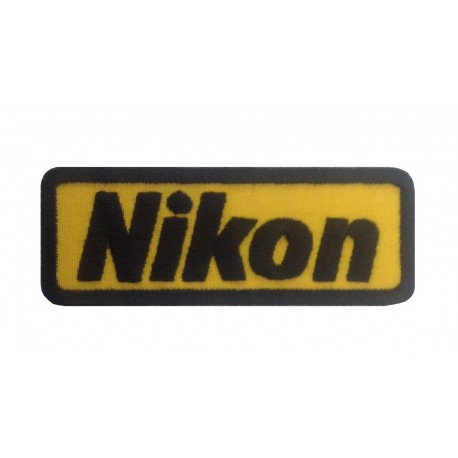 1086 Embroidered patch 9X3 NIKON - Patcholand
