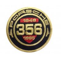 1249  Patch écusson brodé  7x7 PORSCHE 356 CLASSIC REGISTRY 1948-1965