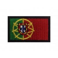0130 Patch emblema bordado 6X3,7 bandeira PORTUGAL