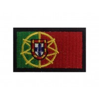 0130 Patch emblema bordado 6X3,7 bandeira PORTUGAL