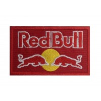 0116 Red embroidered patch 10x6 RED BULL