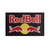 1251 Black embroidered patch 10x6 RED BULL