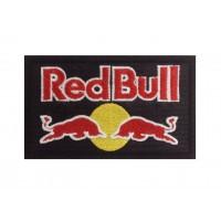 1251 Patch emblema bordado preto 10x6 RED BULL