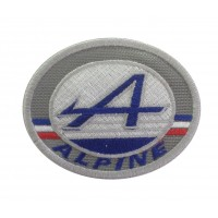 0931 Embroidered patch 8x6 ALPINE renault  FRANCE