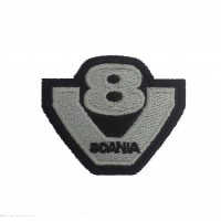 1253 Patch emblema bordado 6x5 SCANIA V8