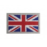 0766 Patch emblema bordado 6X3,7 bandeira REINO UNIDO UNION JACK