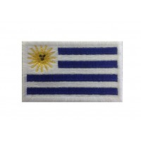 1259 Embroidered patch 6X3,7 flag URUGUAY