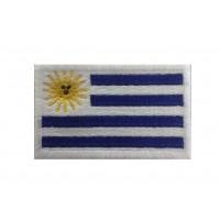 1259 Patch emblema bordado 6X3,7 bandeira URUGUAY