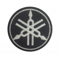 0454 Embroidered patch 7x7 YAMAHA