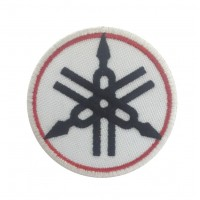0455 Embroidered patch 7x7 YAMAHA