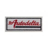 1269 Patch emblema bordado 10x4 AUTODELTA ALFA ROMEO ITALIA
