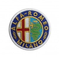 0480 Embroidered patch 7x7 ALFA ROMEO MILANO 1915-1925