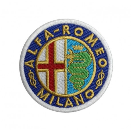 0480 Patch emblema bordado 7x7 ALFA ROMEO MILANO 1915-1925