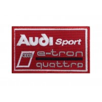 1273 Patch écusson brodé 10x6 AUDI SPORT E-TRON QUATTRO
