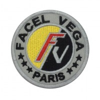 1276 Embroidered patch 7x7 FACEL VEGA PARIS